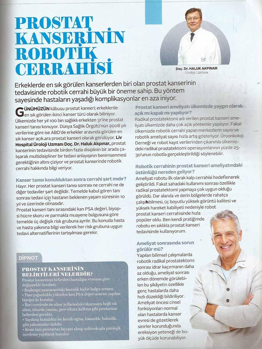 Robotik Prostat Kanseri Tedavisi
